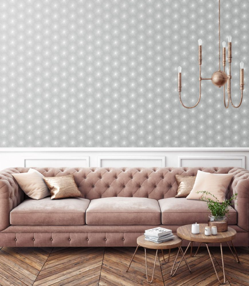 Graham and Brown Fire Circle Grey 105981 Wallpaper PB